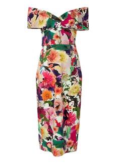 Cushnie Et Ochs Surrealist Floral Alba Collage Dress