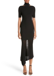 Cushnie et Ochs Asymmetrical Knit Dress