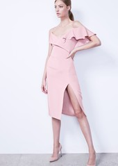 Cushnie et Ochs Asymmetrical Ruffle Silk Dress