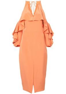 Cushnie Et Ochs Aura cold shoulder dress - Yellow & Orange