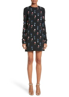 Cushnie et Ochs Beaded Silk Crepe Dress