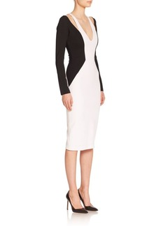 Cushnie Et Ochs Bicolor Cut-Out Sheath
