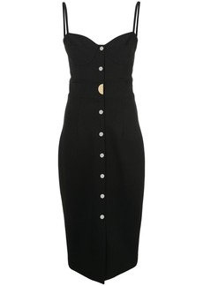 Cushnie Et Ochs buttoned midi dress - Black