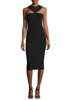 Cushnie Et Ochs Cady Collar Midi Dress