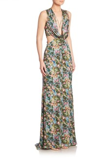 Cushnie et Ochs Christina Floral Gown