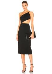Cushnie et Ochs Cindy Asymmetric Open Back Dress