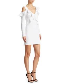 Cushnie Et Ochs Cold Shoulder Mini Dress