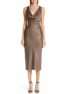 Cushnie et Ochs Cowl Neck Sheath Dress
