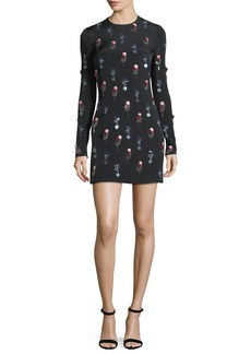 Cushnie Et Ochs Crepe Minidress with Eclipse Beading