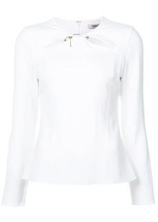 Cushnie Et Ochs cut out blouse - White