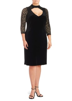 Cushnie et Ochs Cut-Out Velvet Dress
