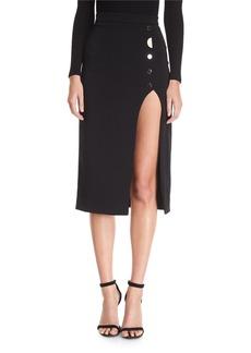 Cushnie Et Ochs CUSHNIE Dahlia Button-Side Slit Skirt