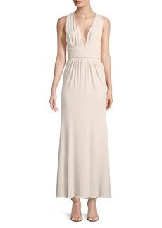 Cushnie Et Ochs Deep V-Neck Gown