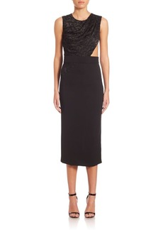 Cushnie et Ochs Devore Cutout Combo Dress