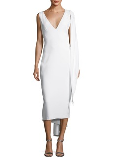 Cushnie Et Ochs Draped Stretch-Cady Sheath Dress