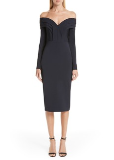 Cushnie et Ochs Elisie Off the Shoulder Pencil Dress