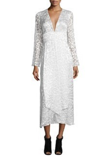 Cushnie Et Ochs Embroidered Satin Lace Midi Dress