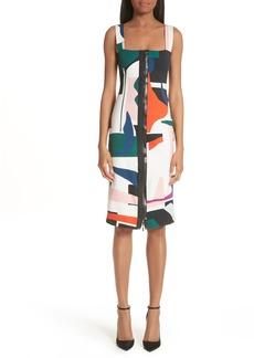 Cushnie et Ochs Expressionist Print Dress