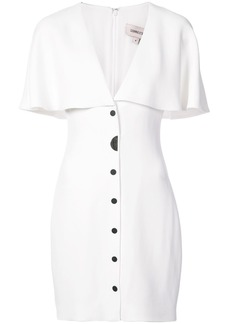 Cushnie Et Ochs fitted cape dress - White