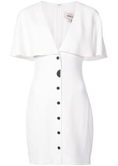 Cushnie Et Ochs fitted cape dress - White