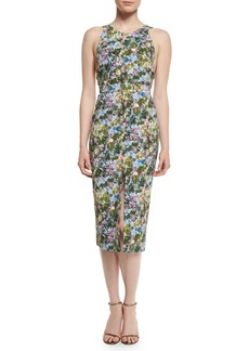 Cushnie Et Ochs Floral Open-Back Sleeveless Dress