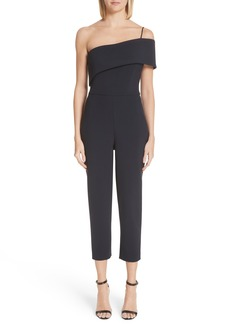 Cushnie et Ochs Foldover One Shoulder Jumpsuit
