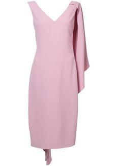 Cushnie Et Ochs half cape pencil dress - Pink & Purple