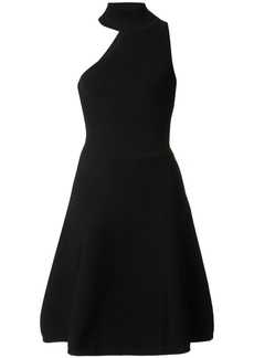 Cushnie Et Ochs high neck asymmetric cut out dress - Black
