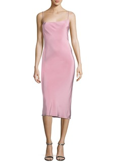 Cushnie Et Ochs Irina Strappy-Back Slip Dress