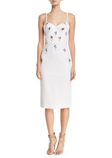 Cushnie Et Ochs Jaclyn Bustier Dress with Eclipse Beading