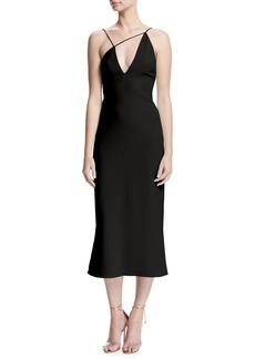 Cushnie Et Ochs Karina Slip Dress with Asymmetric Straps