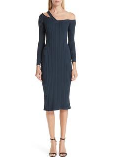 Cushnie et Ochs Knit Cutout Off the Shoulder Dress