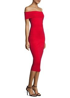 Cushnie et Ochs Layla Woven Off-The-Shoulder Dress