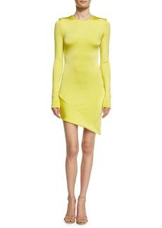 Cushnie Et Ochs Lola Asymmetric Long-Sleeve Minidress