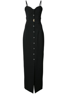 Cushnie Et Ochs long sweetheart dress - Black