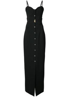 Cushnie Et Ochs long sweetheart dress - Black