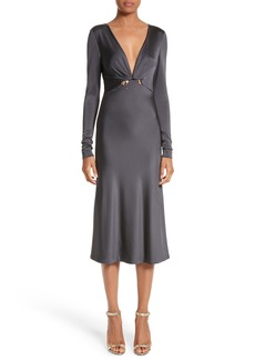 Cushnie et Ochs Magdelena Ring Detail Jersey Dress