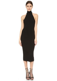 Cushnie Et Ochs Mock Neck Backless Dress