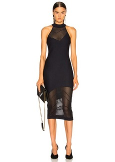 Cushnie et Ochs Mock Neck Knit Dress