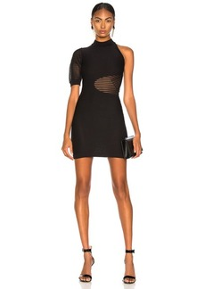 Cushnie et Ochs Mock Neck Mini Dress