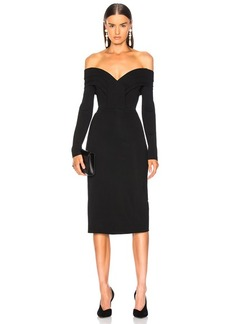 Cushnie et Ochs Off Shoulder Pencil Dress