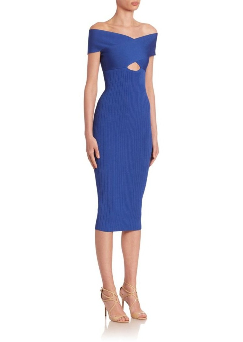 Cushnie et Ochs Off-The-Shoulder Dress