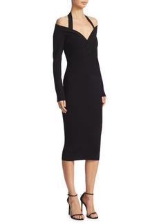 Off-The-Shoulder Halter Dress