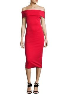 Cushnie Et Ochs Off-the-Shoulder Sheath Dress