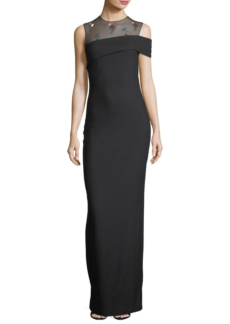 Cushnie Et Ochs One-Shoulder Column Gown