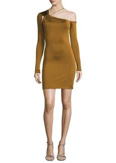 Cushnie Et Ochs One-Shoulder Gloss Jersey Mini Dress