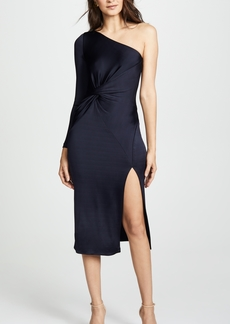 Cushnie Et Ochs One Shoulder LS Dress with Twist Detail