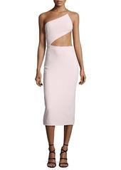 Cushnie Et Ochs One-Shoulder Open-Back Cady Dress
