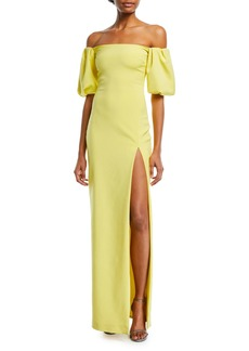 Cushnie Et Ochs Reina Strapless High-Slit Fitted Cocktail Dress