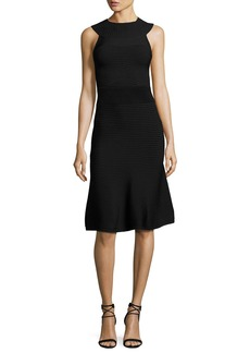 Cushnie Et Ochs Ribbed Sleeveless A-Line Dress
